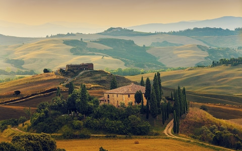 Tuscany Overview house fields