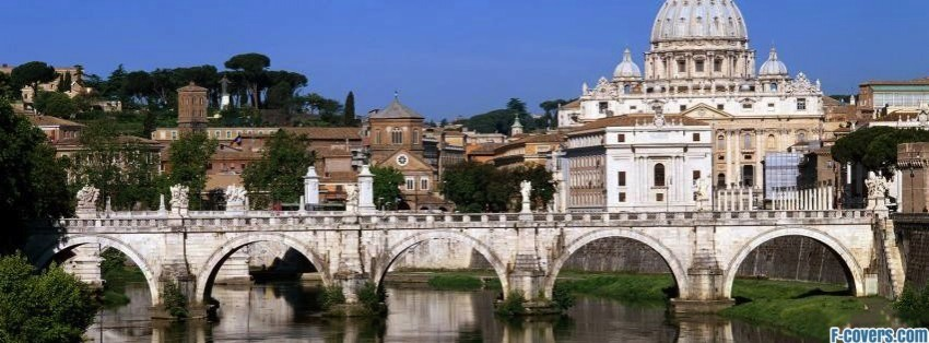 the vatican seen past the tiber river rome italy facebook cover timeline banner for fb